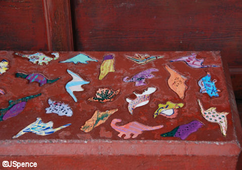 Dinosaur Bench Close-up