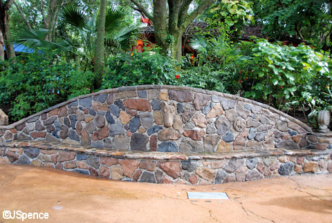 Rock Wall and Bench