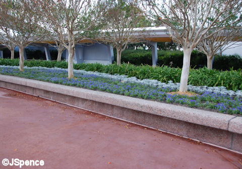 Epcot Entrance Planter/Bench