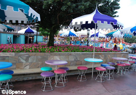 Colorful Fantasyland Seating and Wall/Bench