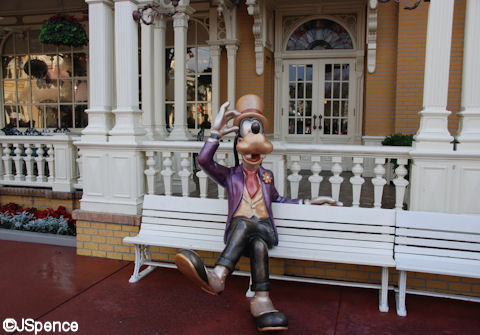 Goofy on a Bench