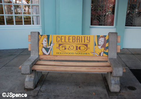 Bench with Advertisements
