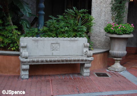 Tower of Terror Bench