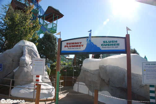 Summit Plummet and Slush Gusher Sign