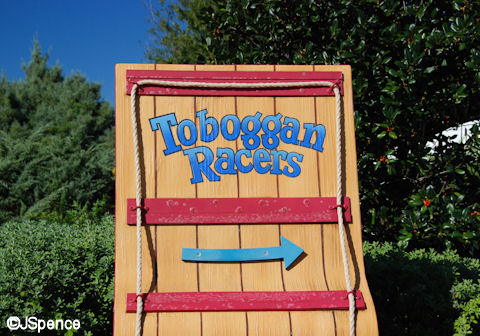 Toboggan Racers Sign