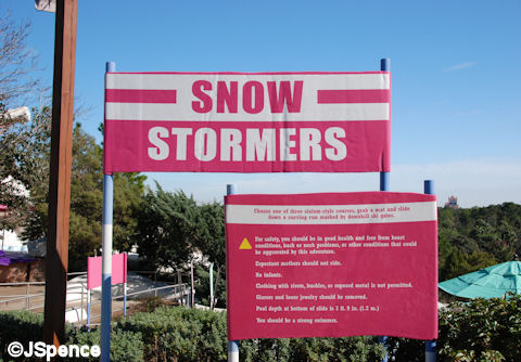 Snow Stormers Sign