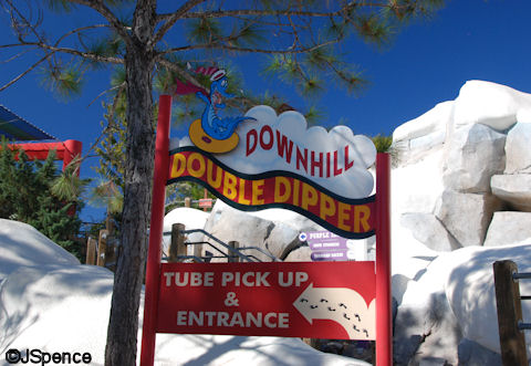 Downhill Double Dipper Sign