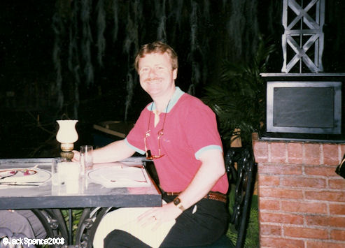 Jack at the Blue Bayou Restaurant in Disneyland in 1996