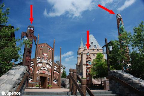 Canada Pavilion Totem Poles