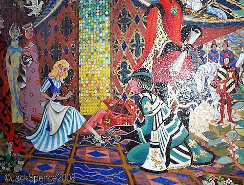 Cinderella Castle Mosaics Tokyo Disneyland