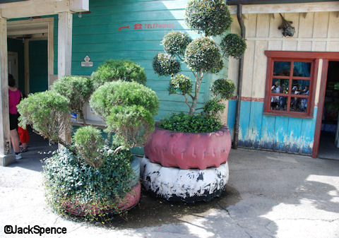 Planters made out of Tires
