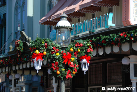 Christmas Decorations in the Magic Kingdom