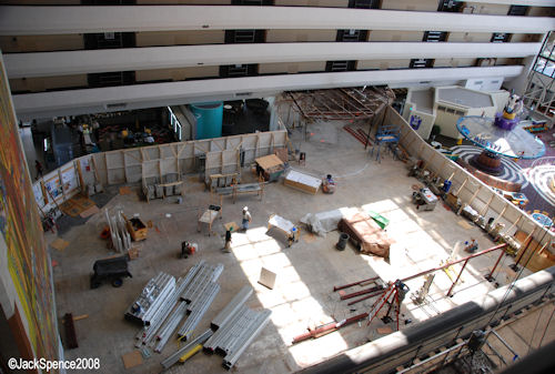 Old Concourse Steakhouse Area Under Construction at the Contemporary Resort