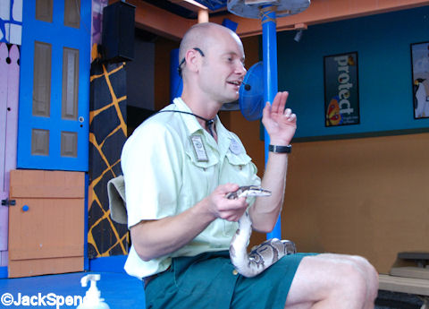 Cast Member with Ball Constrictor