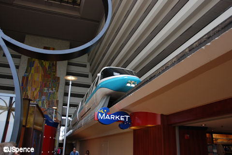 Monorail inside the Contemporary