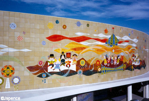 Mary Blair Mural at Disneyland