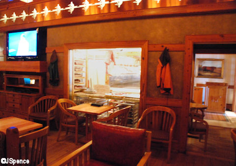 Window into Yachtsman Steakhouse