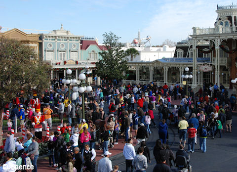 Crowds on Main Street