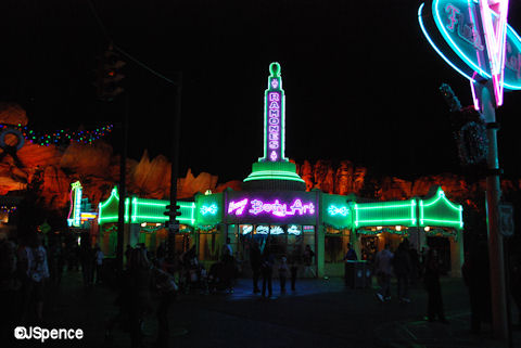 Radiator Springs at Night