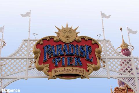 Paradise Pier Entrance