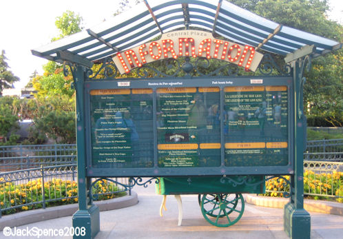 Disneyland Paris Hub Information Board
