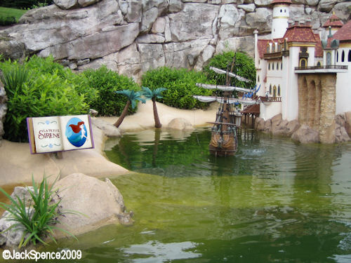 Disneyland Paris Fantasyland Land of the Fairytales Prince Eric's Ship and Castle Little Mermaid