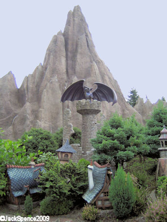Disneyland Paris Fantasyland Land of the Fairytales Bald Mountain and Chernabog