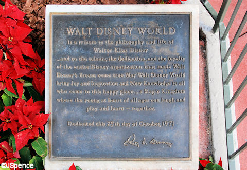 Magic Kingdom Dedication Plaque