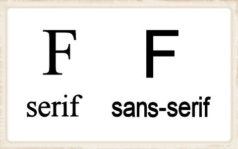 Sarif and Sans-Serif