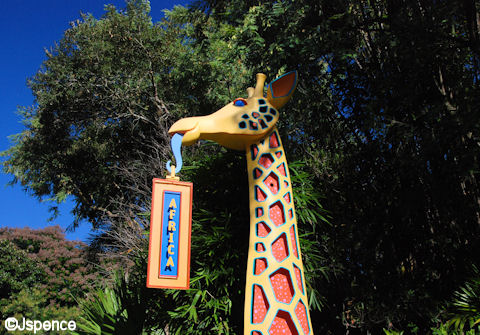 Africa Sign on Discovery Island