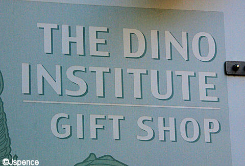 Dino Institute Gift Shop Sign