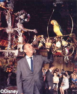 Walt and Jose in the Tiki Room