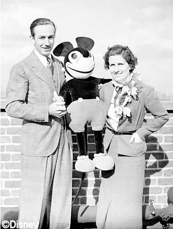 Walt, Lillian, and Mickey Mouse