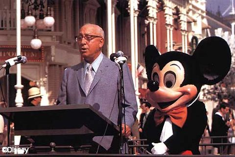 Roy Oliver Disney and Mickey Mouse