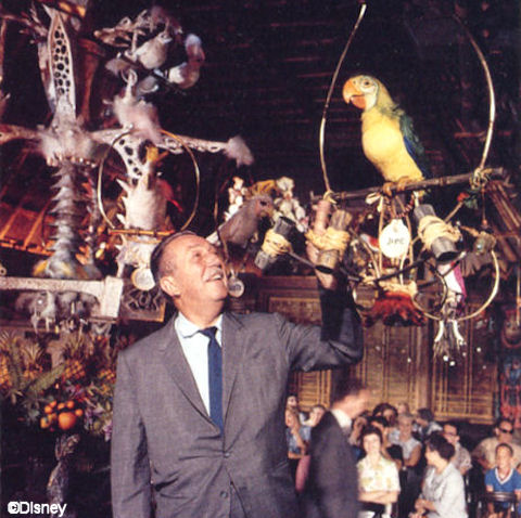 Walt Inside the Tiki Room