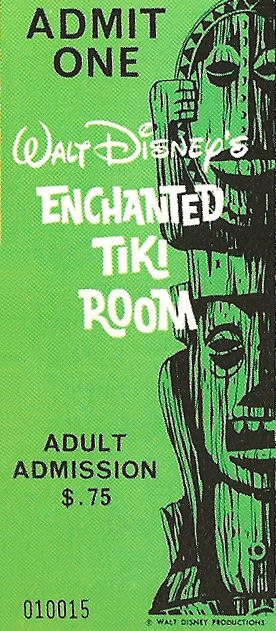 Tiki Room Ticket