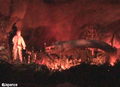 Ellen with a Dinosaur