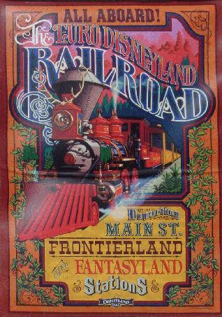 Euro Disneyland Railroad Poster