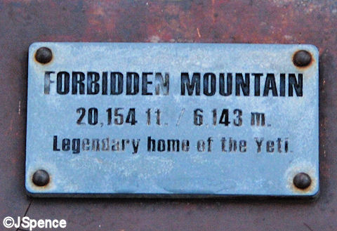 Forbidden Mountain Plaque