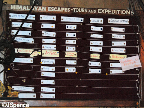 Expedition Tracking Board
