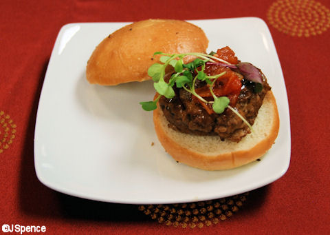 Lamb Slider with Tomato Chutney