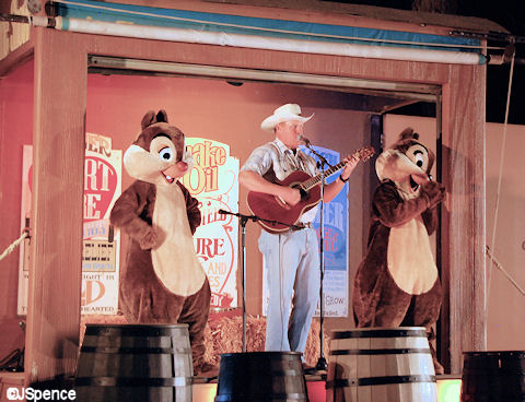 Singing Cowboy and Chip & Dale