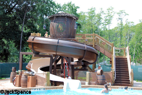 Fort Wilderness Swimming Pool Slide