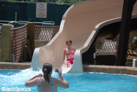 Fort Wilderness Swimming Pool Slide