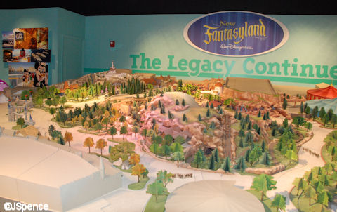 Model of the New Fantasyland