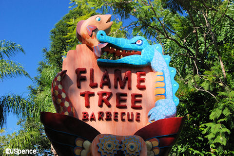 Flame Tree Sign
