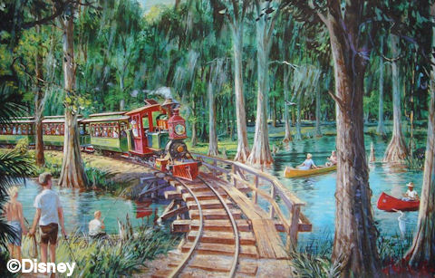 Fort Wilderness Railroad Artist Concept Drawing