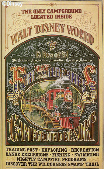 Fort Wilderness Railroad Poster
