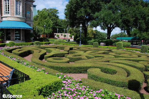 French formal garden