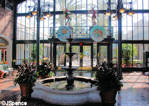 Lobby and Fountain